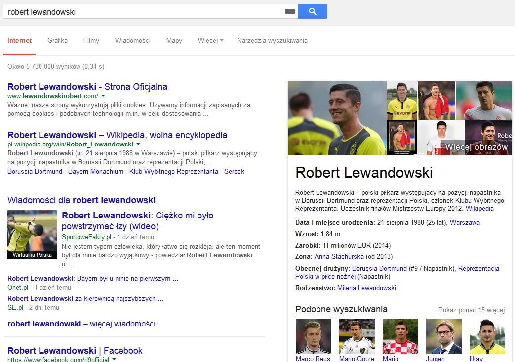 Wyniki wyszukiwania dla frazy Robert Lewandowski