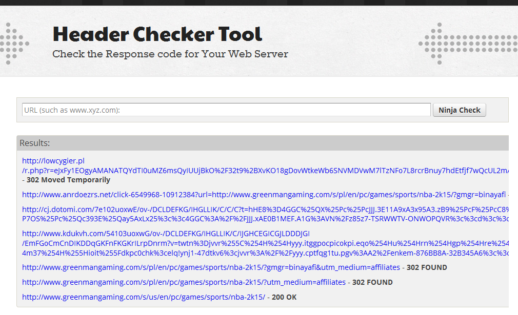 Header Checker Tool
